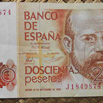 200 pesetas 1980 serie J anverso