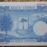 Guinea Ecuatorial 1000 pesetas 1969 (157x104mm) pk.3 reverso