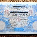 Argelia colonial 1000 francos 1892 anverso