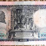 Portugal 1000 escudos 1942 reverso