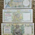 Grecia serie dracmas 1935 Reino Jorge I -BdF anversos