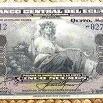 Ecuador 5 sucres 1949 anverso