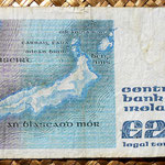 Irlanda 20 pounds 1987 reverso