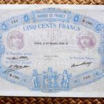 Francia 500 francos Bleu et Rose 1932 anverso