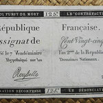 Francia Assignat 125 livres 1793 (92x158mm) pk.A74 uniface