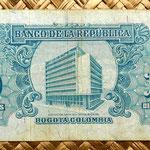 Colombia 10 pesos oro 1961 reverso