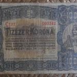 Hungria 10.000 coronas 1923 (145x88mm) pk.77a anverso