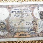 Argelia 5000  francos 1942 anverso