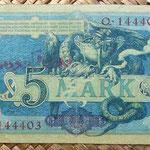 Irán ocupación alemana WWI 5 marcos o 12 kran 1916 reverso