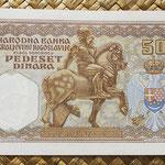 Yugoslavia 50 dinares 1931 pk.28 reverso