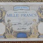 Francia 1.000 francos 1937 anverso