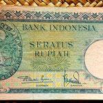 Indonesia 100 rupias 1957 anverso