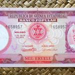 Guinea Ecuatorial 1000 ekuele 1975 (178x75mm) anverso