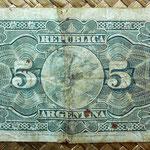 Argentina 5 centavos de peso 1892 reverso