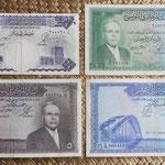 Tunez 1ª serie dinares 1958-1962 Habib Bourguiba anversos