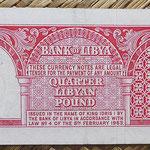 Libia 0,25 libras 1963 (135x58mm) pk.28 reverso