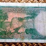 Rodesia y Nyasalandia 1 pound 1960 reverso