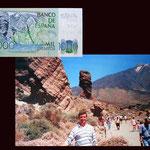 1000 pesetas España desde el Roque Cinchado