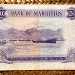 Isla Mauricio 50 rupias 1967 pk.33c reverso