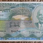 Malawi 20 kwachas 1986 (170x90mm) pk.22a anverso