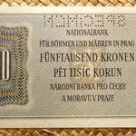 Bohemia y Moravia 5000 coronas 1944 Specimen reverso
