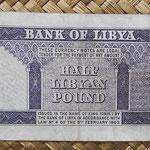 Libia 0,50 libras 1963 (145x62mm) pk.29 reverso