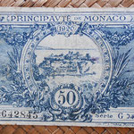 Mónaco, 50 céntimos 1920 (100x64mm) pk.3 reverso