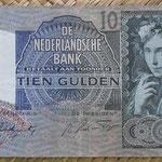 Holanda 10 gulden 1942 (144x82mm) pk.56b anverso