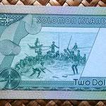 Islas Salomon 2 dollars 1977 reverso