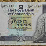 Escocia 20 pounds 2007 (150x80mm) pk.354d anverso