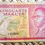 Congo 50 makutas 1970 anverso