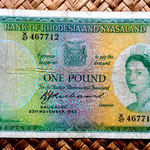 Rodesia y Nyasalandia 1 pound 1960 (148x81mm) anverso