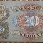 Estonia 20 krooni 1932 (140x85mm) pk.64 reverso
