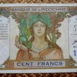Nueva Caledonia 100 francos 1963 (205x115mm) pk.42e anverso