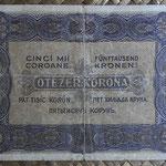 Hungria 5.000 coronas 1923 (140x82mm) pk.76a reverso