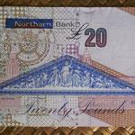 Irlanda del Norte 20 libras 2011 Northern Bank pk.211b reverso