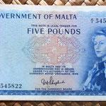 Malta 5 pounds 1961 anverso