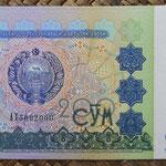 Uzbekistan 200 sum 1997 (144x77mm) pk.80a anverso