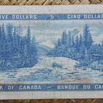 Canada 5 dollars 1954 pk.77b reverso