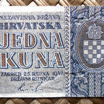 Croacia 1 kuna 1942 (80x42mm) anverso