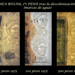 Guinea Bissau 1ª serie Pesos 1975 marcas de agua