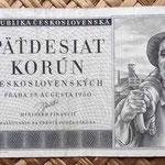Checoslovaquia 50 korun 1950 anverso