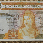 Gibraltar 20 pounds 1979 (160x90mm) pk.23b anverso