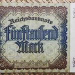 Alemania 5000 marcos 1922 Reichsbank (128x87mm) pk.81a reverso
