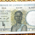 French West Africa 25 francos 1952 anverso
