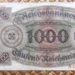 Alemania 1000 reichsmark 1924 reverso