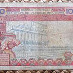 Senegal 10000 francos 1989 reverso