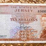 Isla de Jersey 10 shillings 1963 anverso