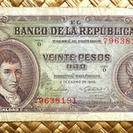 Colombia 20 pesos oro 1965 anverso