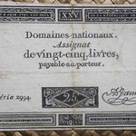 Francia Assignat 25 livres 1793 (75x127mm) pk.A71 uniface